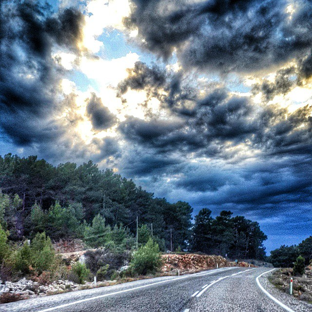 #antalya #cloudy #cloud #way #nature #blue