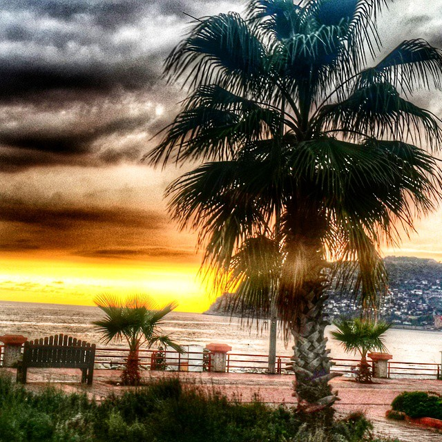 #Alanya #sunset #castle #cloud #beautiful #colorful